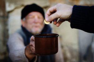 giving to a beggar