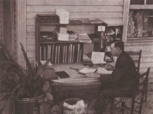 Pastor A. J. Tomlinson at his desk in Cleveland, Tennessee