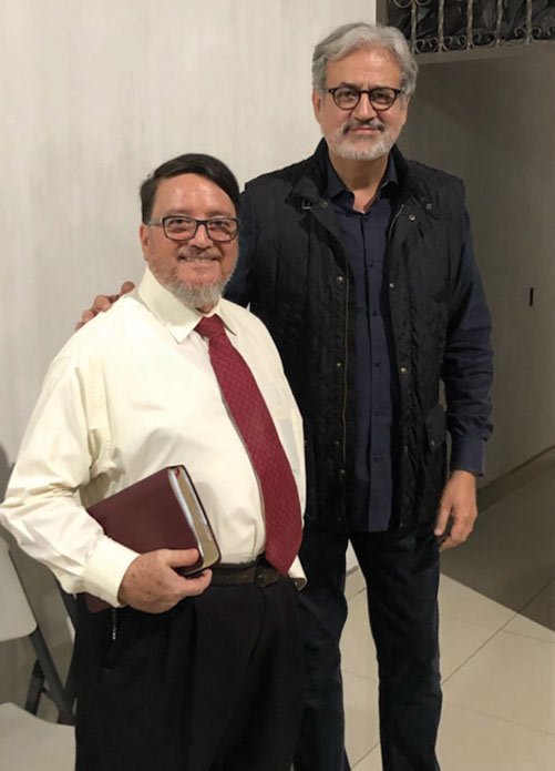 Pastor Robert Aldana with Ramirez