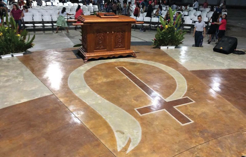 Church of God logo in Guatemalan church