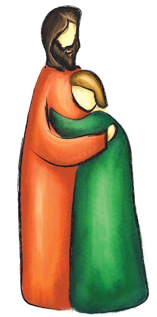 Man hugging child